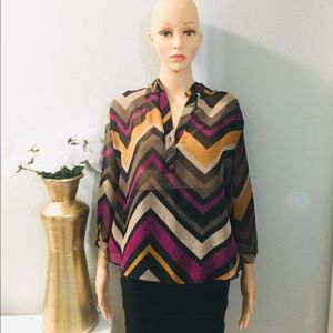 💥A'gaci Yellow and Purple Blouse